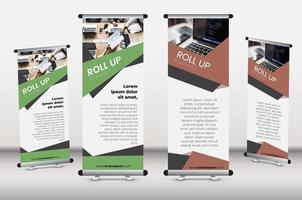ensemble de modèles de bannière d'entreprise roll-up
