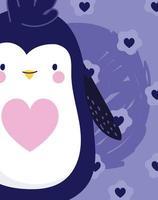 pingouin oiseau antarctique animal vecteur