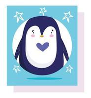 pingouin oiseau antarctique dessin animé animal