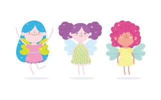 princesse avec des personnages ailes