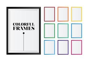 Cadres photo vectoriels colorés vecteur