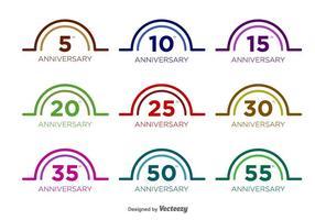 Anniversaire Vector Badges