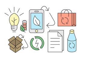 Icônes de recyclage gratuit