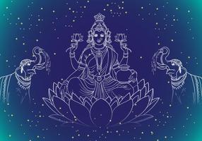 Lakshmi Goddes de la richesse vecteur