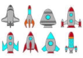 Set Of Starship Icons vecteur