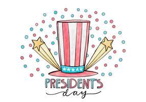 Journée Illustration du Président vecteur