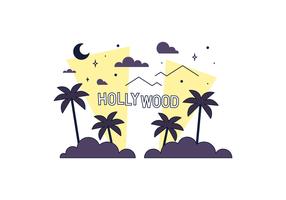 Hollywood lumières vecteur libre