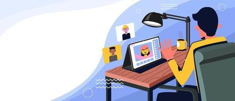 la réunion virtuelle est la nouvelle norme vecteur
