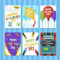 carte de fête des enfants de joie merveilleuse vecteur