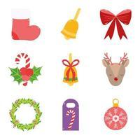 collection d'icônes de décoration de noël