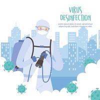 modèle de bannière de désinfection de virus