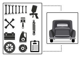 Auto Body Illustration Vecteur
