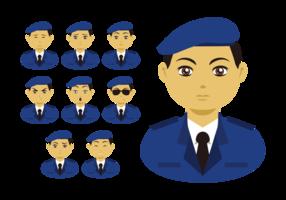 Brigadier Emotions Expression Vector
