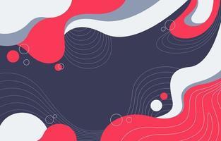 un fond de paysage de flux de ligne abstraite vecteur
