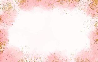 fond aquarelle pastel avec des gouttelettes d'or vecteur