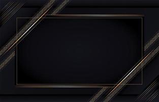 fond de luxe avec des lignes dorées vecteur