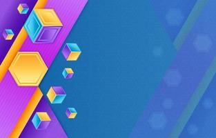 fond hexagonal géométrique coloré vecteur