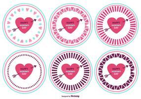 Jour Badges Cute Valentine vecteur