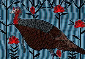 Wild Turkey Femme vecteur