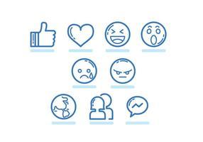 Tecnologia Facebook Icône vecteur