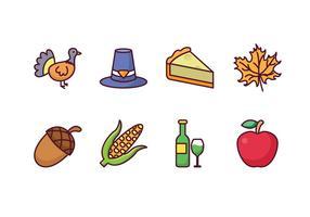 Icônes Thanksgiving gratuites vecteur