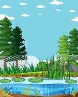 scène de parc nature fond vide