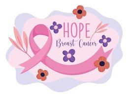 conception du mois de sensibilisation au cancer du sein vecteur