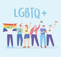 communauté lgbtq pour la parade de la fierté et la célébration vecteur