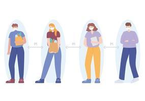 la distance sociale des gens