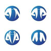 ensemble d'images de logo de veste vecteur
