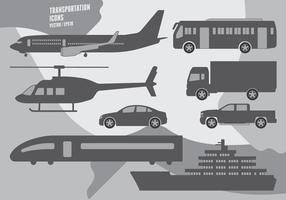 transport Icons vecteur