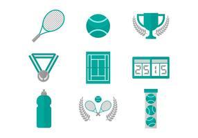 Tennis gratuit icônes vectorielles vecteur