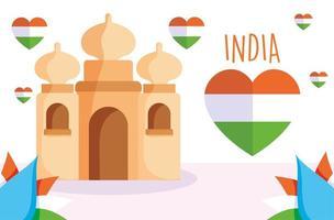 bonne fête de l'indépendance de l'inde vecteur