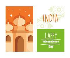 jour de l'indépendance indienne vecteur