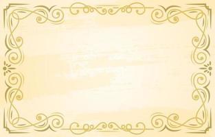fond de bordure ornement vintage vecteur