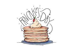 Journée Illustration de Pancake vecteur