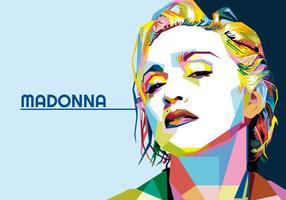Madonna - vie de Hollywood - wpap vecteur