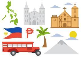 Philippines Icônes vecteur libre