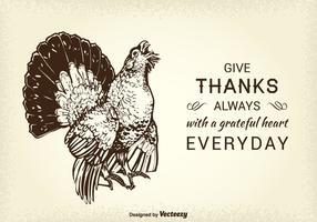 Turquie Vector Wild Card Thanksgiving gratuit
