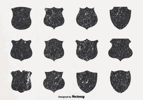 Vector Grunge Shields