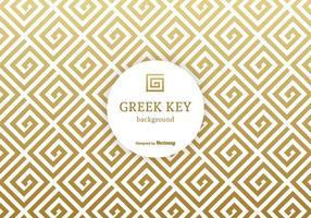Golden Greek Key Vector Background
