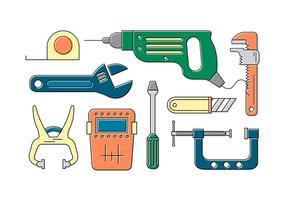 Collection de vecteur d'outils