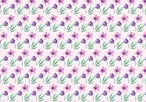 Modèle d'aquarelle vectoriel gratuit avec de belles fleurs