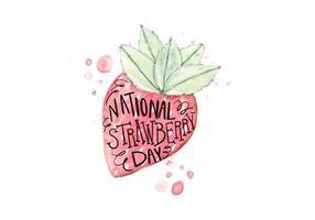 Illustration de la fête des fraises