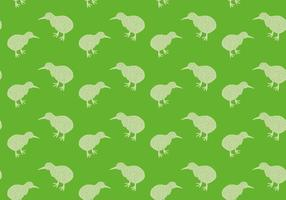 Illustration vectorielle sans trace de motif oiseau Kiwi gratuit