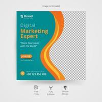 modèle de publication de médias sociaux marketing d'entreprise créative