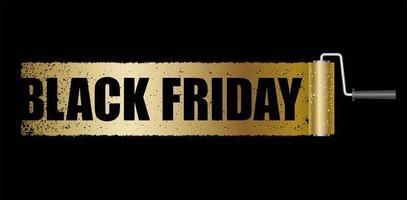 bannière de vente vendredi noir or