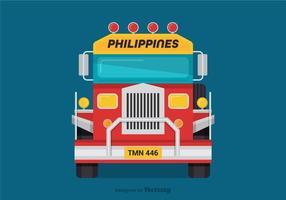 Vue avant Jeepney Vector gratuite