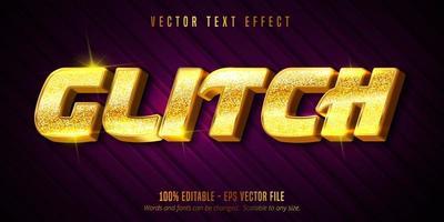 effet de texte modifiable doré de luxe glitch vecteur