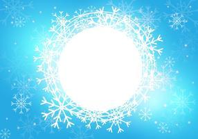 Modèle de fond de saison de neige vecteur